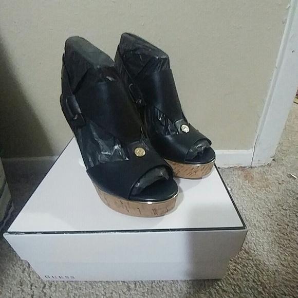 b2cfbde950 Guess Shoes | 65 M Hulda Platform Wedges | Poshmark